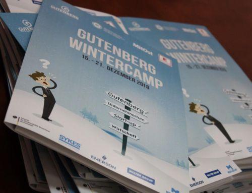 A început tabăra de iarna Gutenberg in limba germană 2018