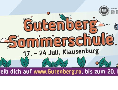 Școala de vară Gutenberg 2019