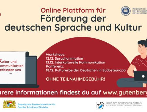 Online-Plattform für Förderung der deutschen Sprache und Kultur 2020